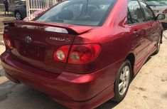 Foreign used Toyota Corolla S 2005 Red for sale