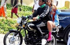 Jay-Z And Beyonce ride Okada while shooting music video in Jamaica