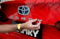 Life-size Toyota Camry produced from half a million Lego bricks