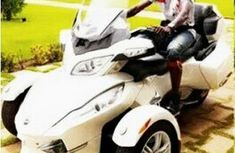 See N8m Can-Am Spyder of Emmanuel Adebayor along with his car collection