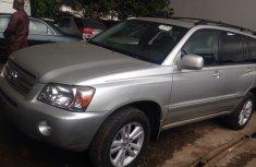 2007 Toks Toyota Highlander silver for sale