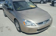 HONDA ACCORD  EOD 2005 GOLD FOR SALE