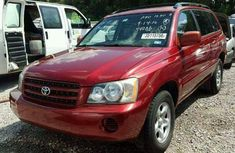 TOYOTA HIGHLANDER 2008 RED FOR SALE