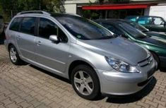 Foreign used Peugeot 307 2004 silver for sale