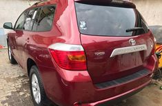 Foreign used Toyota Highlander 2009 Red for sale
