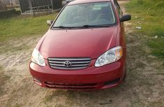 Very Clean tokunbo Toyota Corolla 2004 red for sale