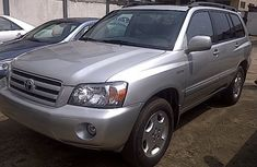 TOYOTA HIGHLANDER 2007 SILVER FOR SALE IN GOOD RUNNING CONDITION