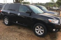 Nigerian Used Toyota Highlander V6 2008 Black for sale