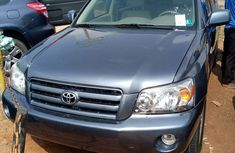 Foreign used Toyota Highlander 2006 blue for sale