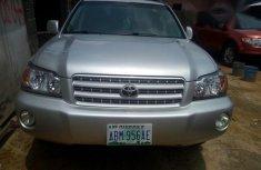 Clean Nigerian Used Toyota Highlander 2002 Silver for sale
