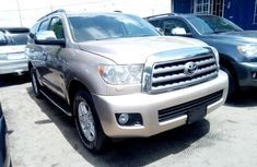 Toyota Sequoia 2012 Petrol Automatic Gold FOR SALE