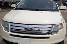 Clean Ford Edge 2008 White For Sale