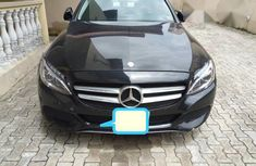 Neat Mercedes Benz C300 2015 Black FOR SALE