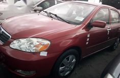 Clean Toyota Corolla 2005 Red for sale