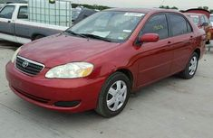 TOKUNBO TOYOTA COROLLA 2005 RED FOR SALE