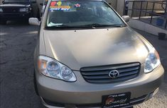 2006 gold Toyota Corolla for sale
