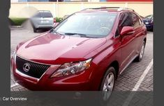 Lexus RX350 2010 Red for sale