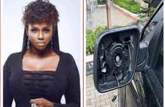 Nigerian singer - Waje cries over her stolen car side mirror