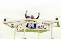 The first African-made flying drone taxi broadcast on TV