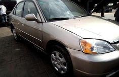Registered Honda Civic 2002 Gold for sale