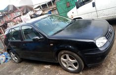 Clean Volkswagen Golf 2003 Black for sale