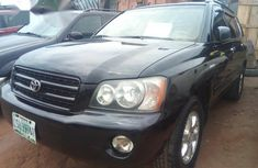 Clean Toyota Highlander 2004 Black for sale