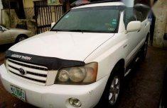 Toyota Highlander 2003 White for sale