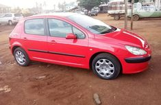 Clean Peugeot 307 2002 Red for sale