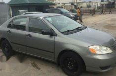 Clean Toyota Corolla 2003 Gray for sale