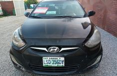 Clean Hyundai Accent 2012 Black for sale