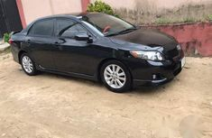 Clean Toyota Corolla 2010 Black for sale