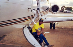 Davido posts picture of his private jet's stairways as a response to skeptics