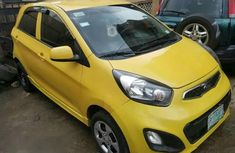 Neatly Used Kia Picanto 2012 Yellow for sale