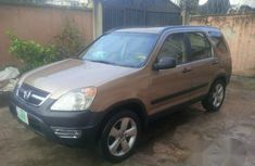 Clean Honda CR-V 2003 Gold for sale