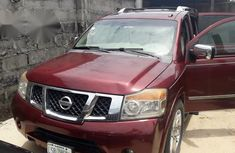 Nissan Armada 2010 Red for sale