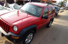 Clean Jeep Liberty 2003 Red for sale
