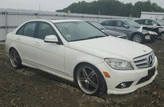 2009 MERCEDES-BENZ C300 4MATIC WHITE FOR SALE