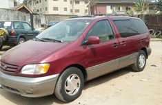 Clean Toyota Sienna 2003 Red-wine for sale