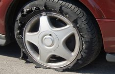 Why do car tires blow easily on the highway?