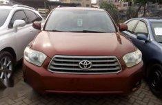Toyota Highlander 2008 Red for sale