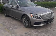 Clean Mercedes Benz C300 2015 Gray for sale