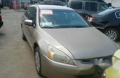 Clean Honda Accord 2004 Gold for sale