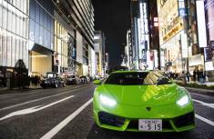 More than 200 Lamborghini supercars parade Yokohama street on Lamborghini day 2018