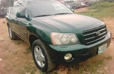 Toyota Highlander Limited 2004 Green for sale