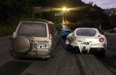 Asleep delivery man crashes 4 Ferraris worth ₦625 million