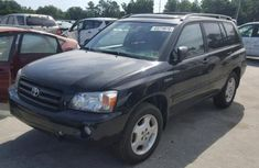 Clean Toyota Highlander 2006 Black for sale