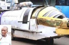 Nigerian inventor drives self-made aero-amphibious automobile to meet president!