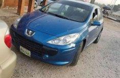 Blue Peugeot 307 2006 model for sale