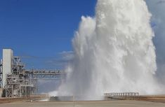 This is what happens when NASA pours water on its launch pad