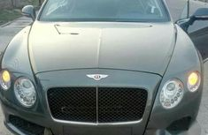 Clean Bentley Continental 2014 Gray for sale
